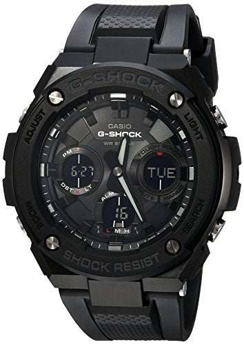 Casio Men's 'G Shock' Quartz Stainless Steel and Resin Casual Watch, Color:Black (Model: GST-S100G-1BCR)