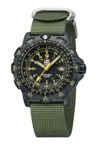 Luminox Men's A.8825.KM Recon Analog Display Quartz Green Watch