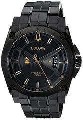Bulova Men's 'Grammy' Quartz Stainless Steel Casual Watch, Color:Black (Model: 98B295)