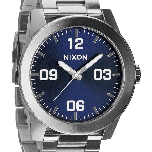 Nixon Corporal Blue Dial Stainless Steel Quartz Men's Watch A346-1258