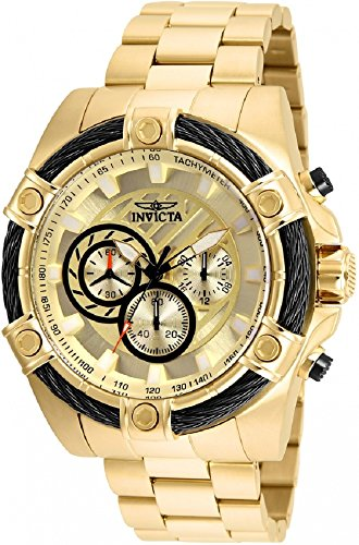 25515 - INVICTA Bolt Men 52mm Stainless Steel Gold Gold dial VD54 Quartz