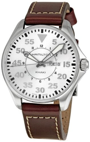 Hamilton Men's H64611555 Khaki Pilot Silver Day Date Dial Watch