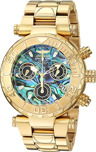 Invicta Men's 'Subaqua' Quartz Stainless Steel Casual Watch, Color:Gold-Toned (Model: 25801)