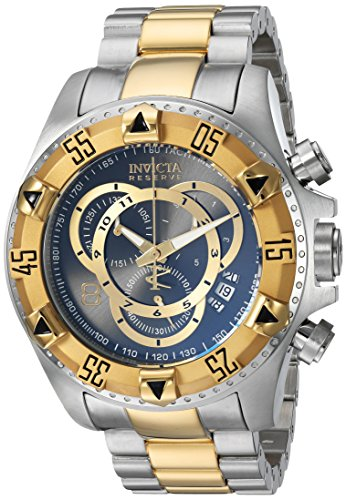 Invicta Men's 'Connection' Quartz Stainless Steel Casual Watch, Color:Two Tone (Model: 24732)