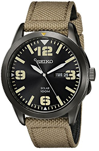 Seiko Men's SNE331 Core Analog Japanese quartz Beige Solar Watch