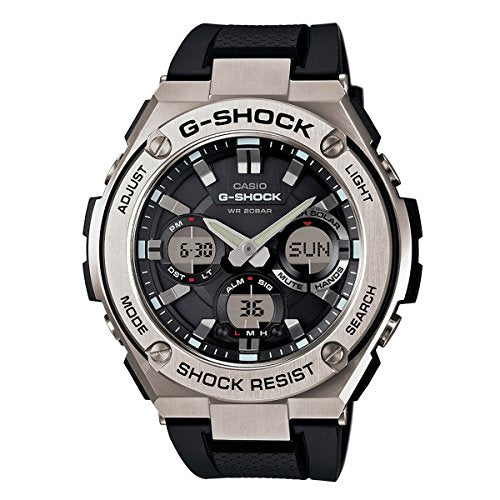 Casio Men's 'G SHOCK' Quartz Stainless Steel and Resin Casual Watch, Color:Black (Model: GST-S110-1ACR)