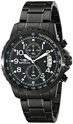 Invicta Men's 13787 Specialty Black Ion-Plated Stainless Steel Watch