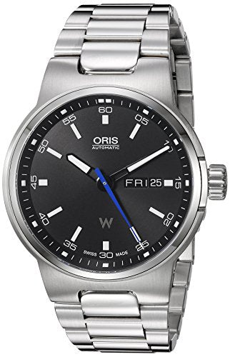 Oris Men's 'Wiliams F1 DD' Swiss Stainless Steel Automatic Watch, Color:Silver-Toned (Model: 73577164154MB)