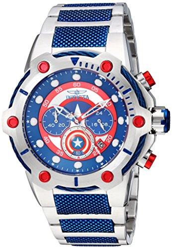 Invicta Men's 'Marvel' Quartz Stainless Steel Casual Watch, Color:Two Tone (Model: 25780)