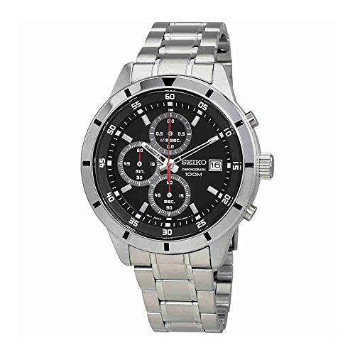 Seiko Chronograph Black Dial Mens Watch SKS561