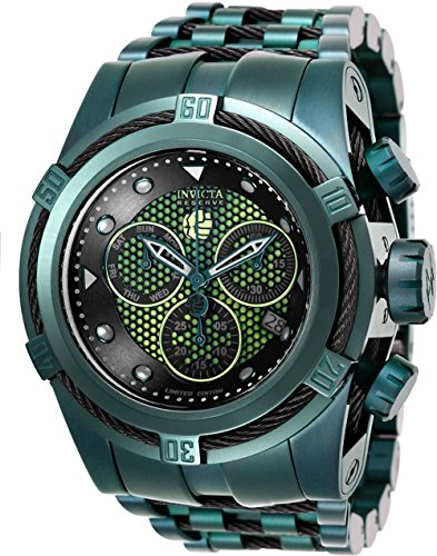 Invicta Reserve Marvel Bolt Zeus Hulk Ltd Edition Swiss Quartz Chronograph Men's 53mm Bracelet Watch (26013)
