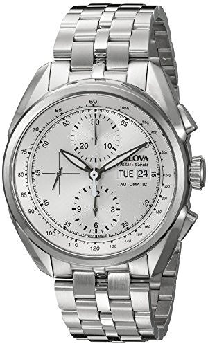 Bulova Accu Swiss Men's 63C120 Mechanical Hand Wind Silver Watch