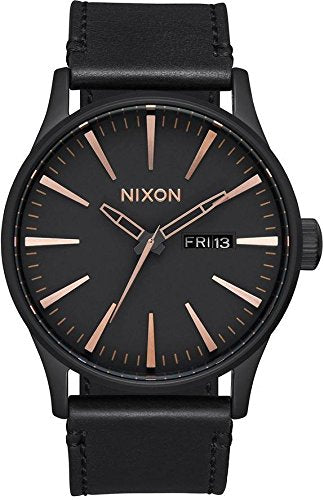 Nixon Sentry Leather A105-957 Mens Wristwatch Design Highlight