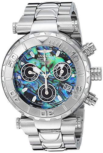 Invicta Men's 'Subaqua' Quartz Stainless Steel Casual Watch, Color:Silver-Toned (Model: 25798)