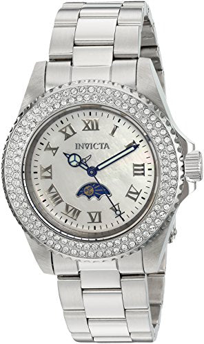 Invicta Women's 'Sea Base' Quartz Stainless Steel Casual Watch, Color:Silver-Toned (Model: 23829)