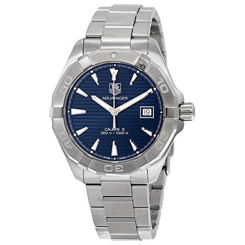TAG Heuer Men's 'Aquaracer' Swiss Automatic Stainless Steel Dress Watch, Color: Silver-Tone (Model: WAY2112.BA0928)