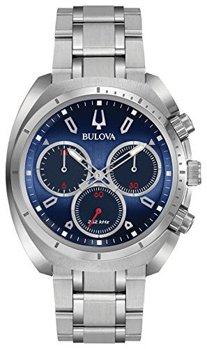 Bulova Men's 'Curv Collection' Quartz Stainless Steel Casual Watch, Color:Silver-Toned (Model: 96A185)