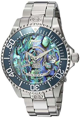 Invicta Men's 'Pro Diver' Automatic Stainless Steel Diving Watch, Color:Silver-Toned (Model: 23453)