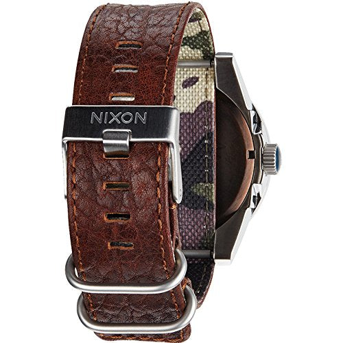 Nixon A243-1656 Mens The Corporal Brown Blue Sunray Watch