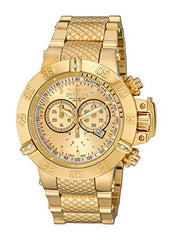 Invicta Men's 14500 Subaqua Noma III Chronograph Gold Dial Stainless Steel Watch