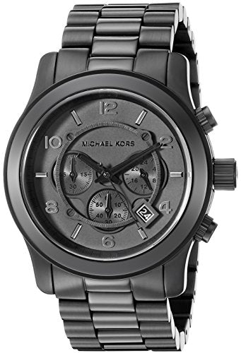 Michael Kors Watches Michael Kors Men's Black bracelet Chronograph Sport (Black)
