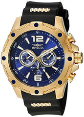 Invicta Men's 19659 I-Force 18k Gold Ion-Plated Watch with Black Polyurethane Band