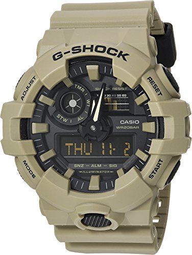 Casio Men's 'G SHOCK' Quartz Resin Casual Watch, Color:Beige (Model: GA-700UC-5ACR)