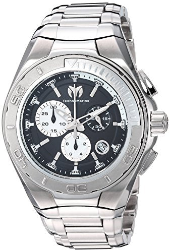 Technomarine Men's 'Manta' Swiss Quartz Stainless Steel Casual Watch, Color:Silver-Toned (Model: TM-215037)