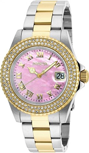 Invicta Women's 'Sea Base' Quartz Stainless Steel Casual Watch, Color:Two Tone (Model: 20367)