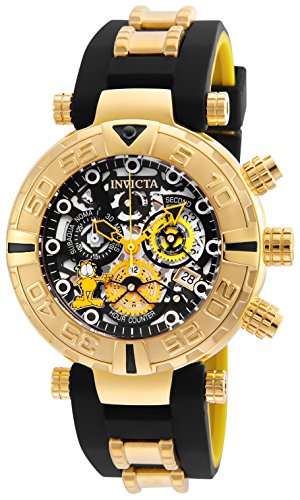 Invicta Men's 'Character Collection' Quartz Stainless Steel and Silicone Casual Watch, Color:Two Tone (Model: 24879)