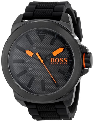 BOSS Orange Men's 1513004 New York Black Stainless Steel Watch