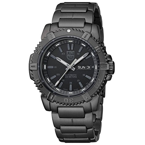 Luminox Modern Mariner Black Dial Black PVD Stainless Steel Mens Watch 6502.BO