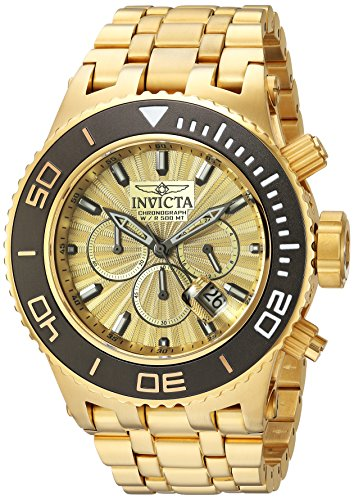 Invicta Men's 'Subaqua' Quartz Titanium and Stainless Steel Casual Watch, Color:Gold-Toned (Model: 23937)