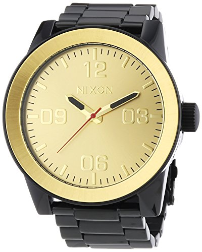 Nixon A346-010 Mens Corporal SS Black Gold Watch