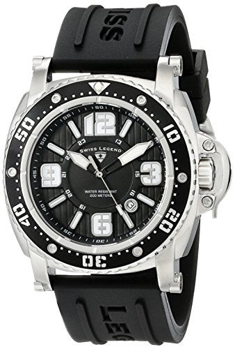 Swiss Legend Men's 11503-01 Typhoon Analog Display Swiss Quartz Black Watch