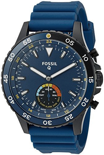 Fossil Q Crewmaster Gen 2 Hybrid Blue Silicone Smartwatch