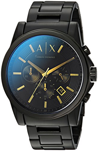 Armani Exchange Men's  Black Stainless Steel Watch AX2513