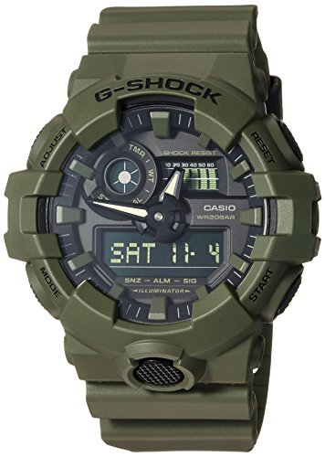 Casio Men's 'G Shock' Quartz Resin Casual Watch, Color:Green (Model: GA-700UC-3ACR)