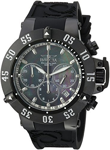 Invicta Men's 'Subaqua' Quartz Stainless Steel and Silicone Casual Watch, Color:Black (Model: 22922)