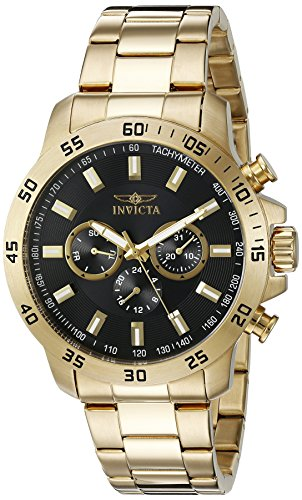 Invicta Men's 21506 Specialty 18k Gold Ion-Plated Stainless Steel Watch