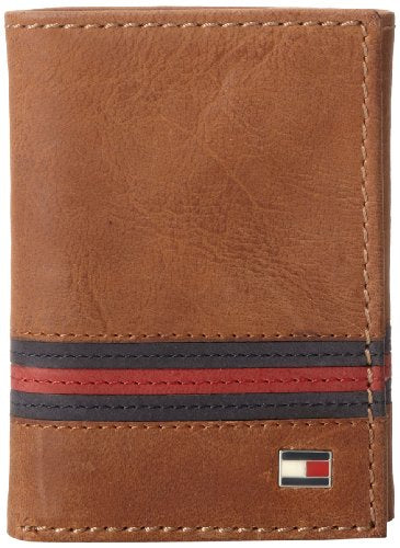 "Tommy Hilfiger Men's Tommy Hilfiger ""yale"" Trifold Wallet,Saddle Tan,One Size"