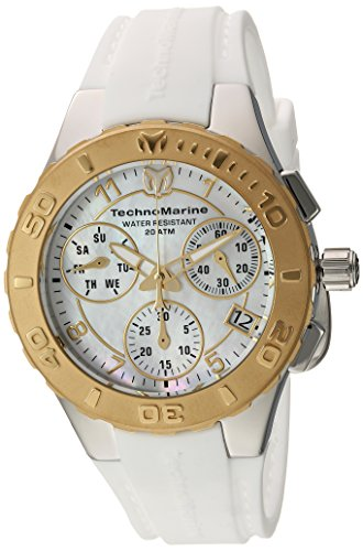 Technomarine Women's 'Cruise' Quartz Stainless Steel and Silicone Casual Watch, Color:White (Model: TM-115089)