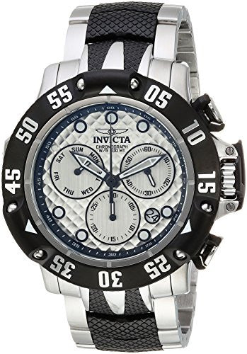 Invicta Men's 'Subaqua' Quartz Stainless Steel Casual Watch, Color:Silver-Toned (Model: 23804)
