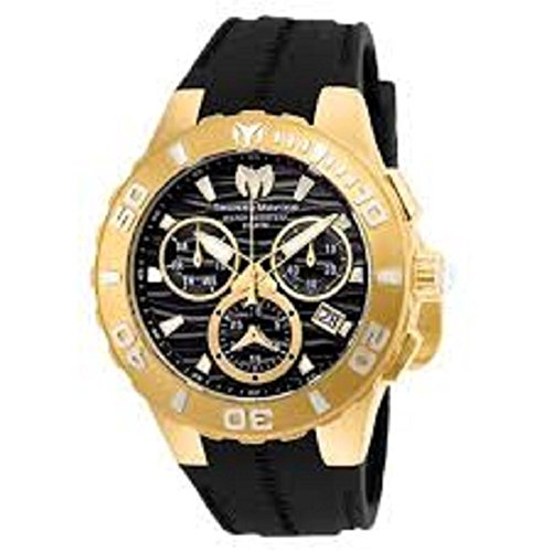 Technomarine Men's 'Cruise' Quartz Stainless Steel and Silicone Casual Watch, Color:Black (Model: TM-115076)