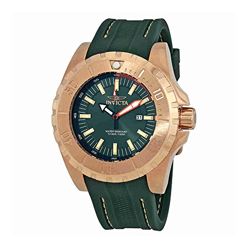 Invicta Men's 'Pro Diver' Quartz Stainless Steel and Polyurethane Casual Watch, Color:Green (Model: 23731)