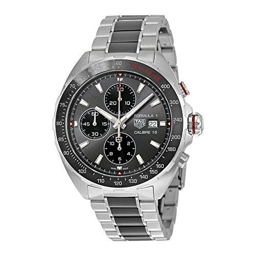 TAG Heuer Men's 'Formula 1' Swiss Automatic Stainless Steel Dress Watch, Color:Silver-Toned (Model: CAZ2012.BA0970)