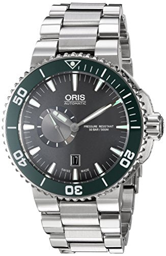 Oris Men's 'Aquis' Swiss Automatic Stainless Steel Dress Watch, Color:Silver-Toned (Model: 74376734137MB)