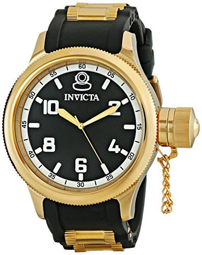 Invicta Men's Russian Diver 18k Gold Ion-Plated Stainless Steel Watch (1436)