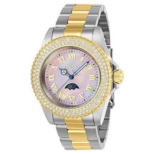 Invicta Women's 'Sea Base' Quartz Stainless Steel Casual Watch, Color:Two Tone (Model: 23832)