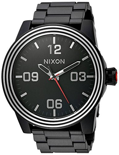 Nixon Men's 'Star Wars Kylo' Quartz Stainless Steel Casual Watch, Color:Black (Model: A346SW2444-00)